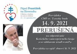 Prerušenie prevádzky CMŠ sv. Terezky